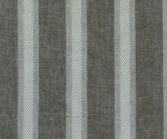 De Vintage stof linnen bruin brede streep door de Yard gordijn   Etsy