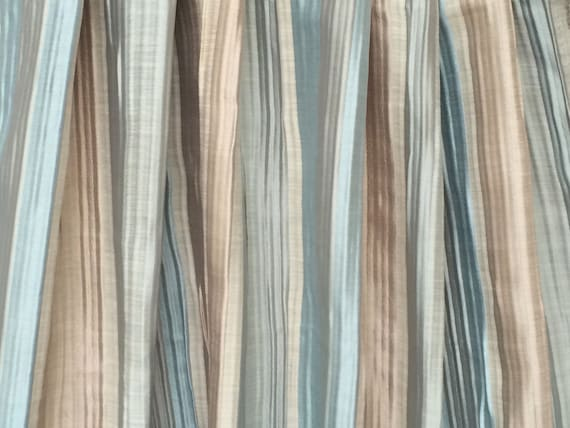 Blue And Champagne Stripe Curtain Drapes Custom Curtain Panel Window  Curtain Valance Bedroom Curtain Window Treatment Door Curtains For Sale