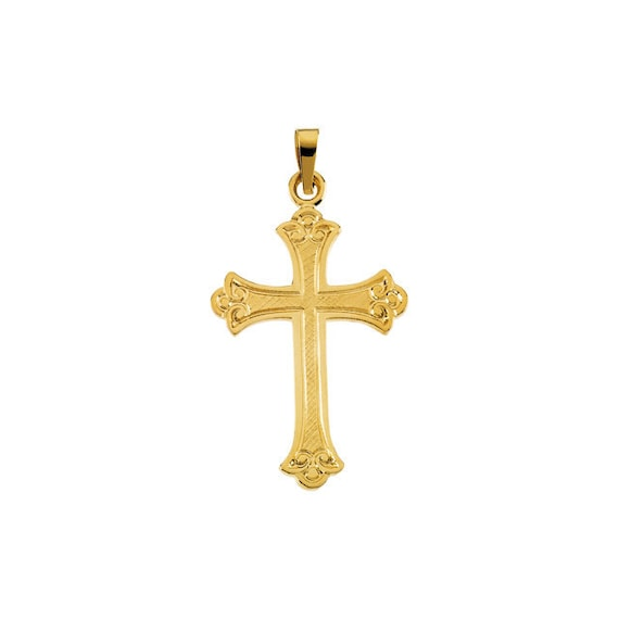 f517d8a5201a6 14k Gold Vintage-Style Scroll Cross Pendant - Christian Religious Jewelry.  Christmas Holiday Gift Idea. 14k Yellow or White Gold