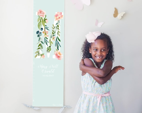 Floral Initial Growth Chart