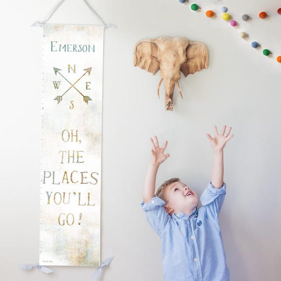 Oh the Places You'll Go canvas growth chart