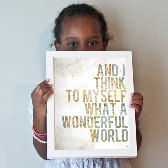 Wonderful World print