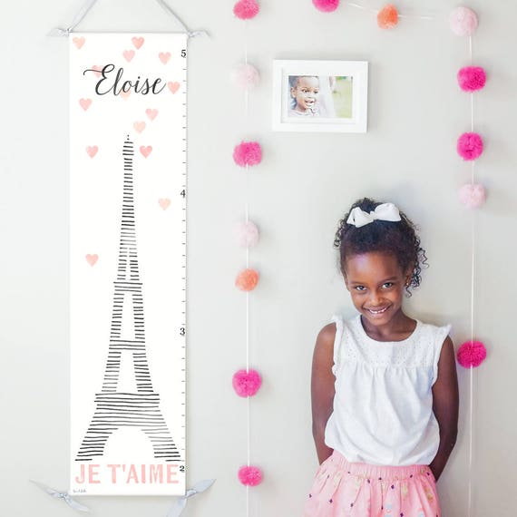 Eiffel tower Paris canvas growth chart