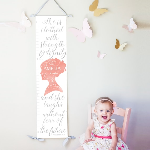 Personalized/ Custom Girls Proverbs 31 Growth Chart