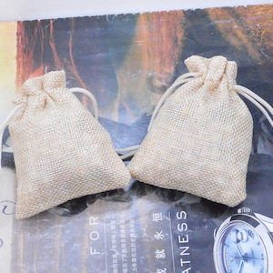 Natural linen gift bags 20 gift bags jewelry bags gift bag linen linen bags linen favor bag candy bags 3.25/'/'x2.5/'/' small favor bags