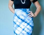 Indigo Pencil Skirt