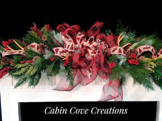 Rustic Country wreath Rustic Christmas door wreath Christmas teardrop swag Swag Country Christmas wreath Christmas double door wreaths