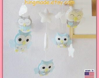 Teddy Bear Mobile Baby Mobile Neutral Mobile Moon And