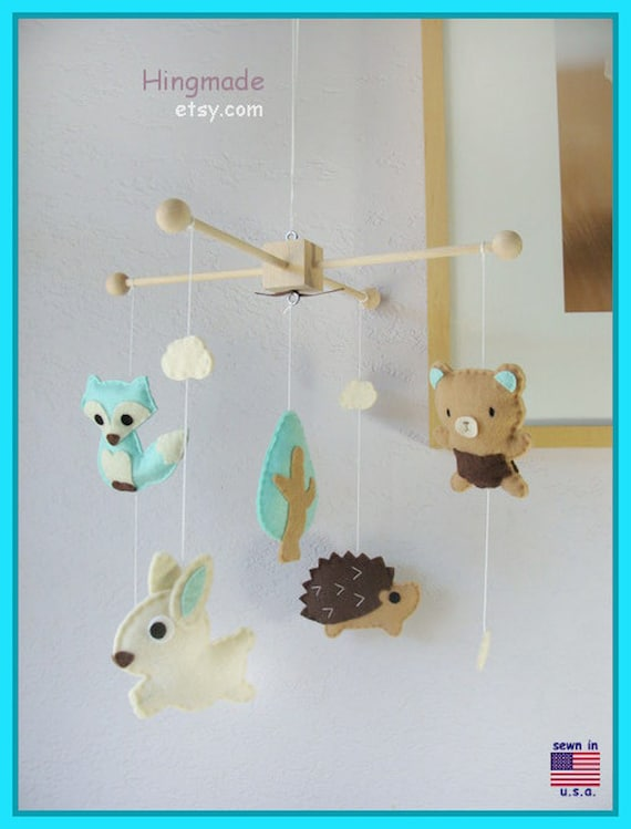Baby Mobile Woodland Mobile Forest Animals Mobile Ceiling
