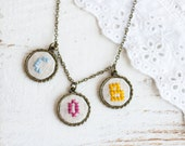 Personalized mother's necklace with custom set of initials i010