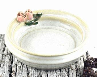 Ceramic Bowl Trinket Dish Candle Holder Jewellery Storage Stoneware Unique Handmade Pottery Home Decor