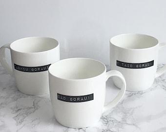 Dad gorau- Best Dad- welsh language gift- bone china mug