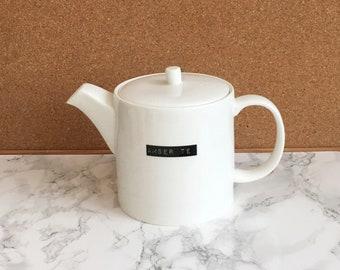 Amser te- time for tea-welsh language gift- bone china teapot