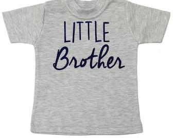 Little Brother Shirt - Boy Baby Shower Gift - Big Brother Shirt - Big Bro Little Bro Shirts