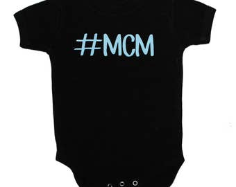 Man Crush Monday Bodysuit - Boy Baby Shower Gift- Baby Boy Gift - Funny Baby Gift - Funny Baby Bodysuit - MCM Bodysuit - Baby Shower Present