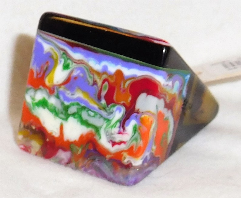 Sobral Pop Art Carre Patchwork Alto Runway Style Ring Size 8 Brazil Import