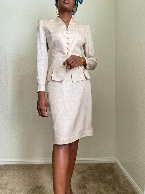 Adrianna Papell Silk Suit