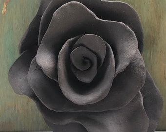 Ceramic Rose Black Clay