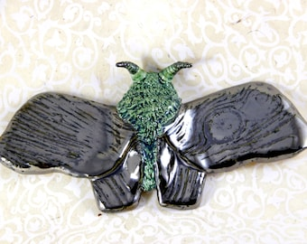 Metallic Moth in Woodgrain
