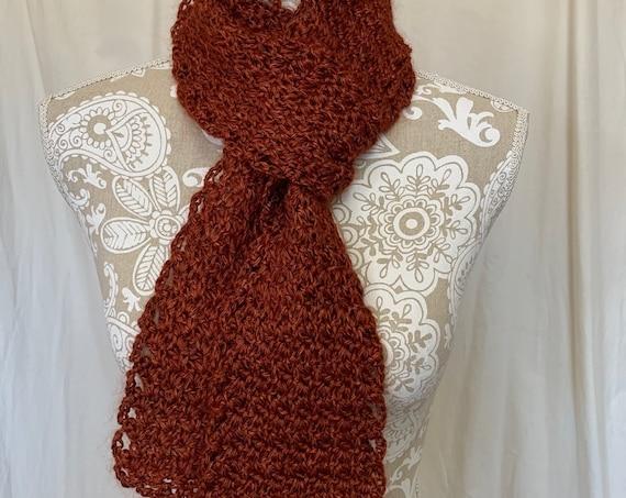 Copper cashmere silk scarf