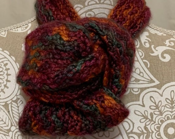 Cashmere infinity scarf hand dyed in Montana