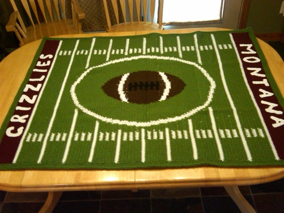 Custom Football Afghan--YOUR school, YOUR colors