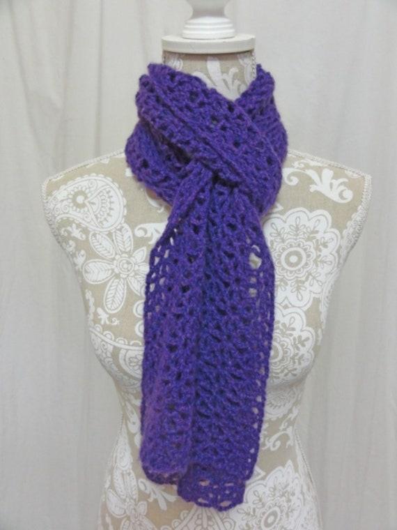Purple cashmere scarf