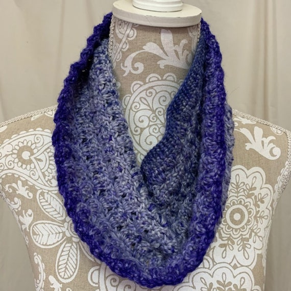 Blue Ombre Cowl hand dyed in Montana