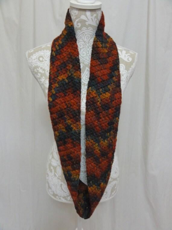Merino wool infinity scarf hand dyed in Montana teal plum dark magenta gold