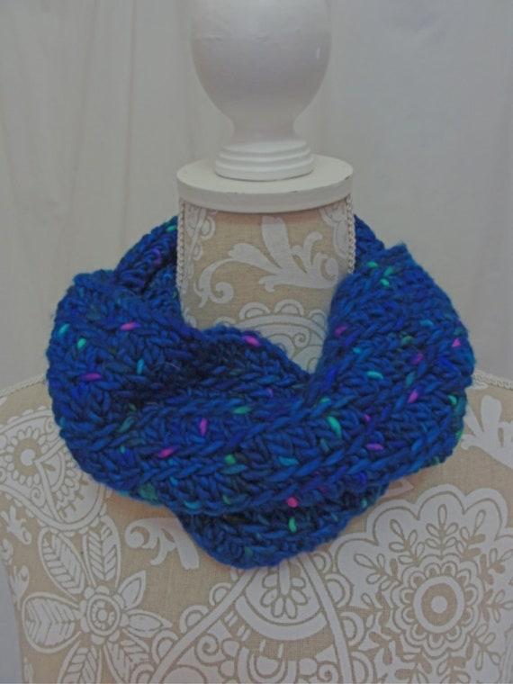 Chunky Cobalt Blue Hand-Dyed Cowl
