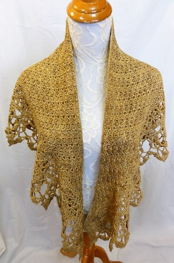 sparkly gold lacy shawl