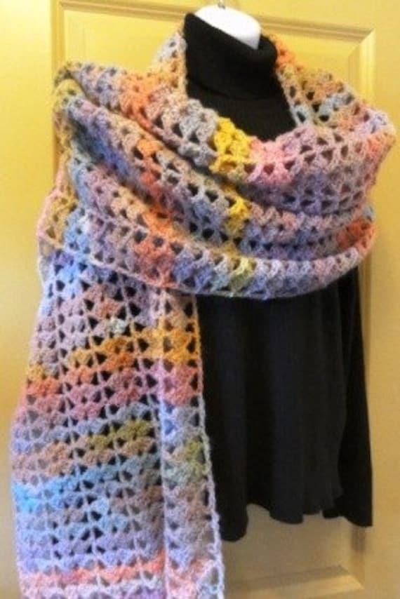 Amazing shawl--pink sands--pastels