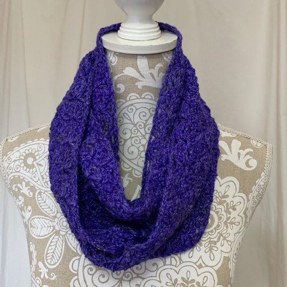 Cobalt blue purple infinity scarf