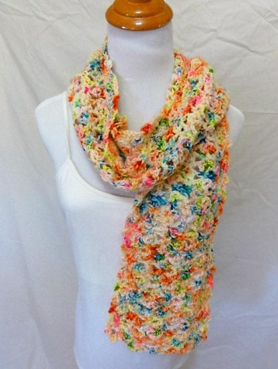 soft squishy 100% merino scarf confetti colors
