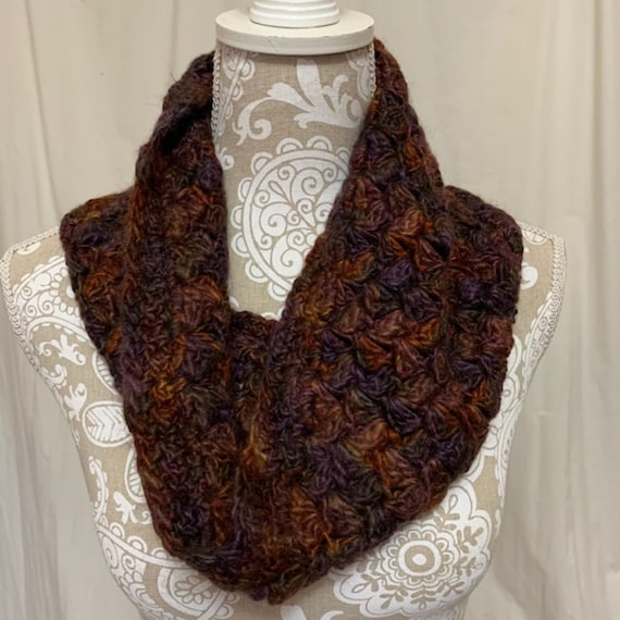 Alpaca cowl--raised, spun and dyed in Montana