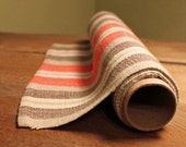 Vintage Swedish Hand Woven Table Runner, Olive-Red-Brown