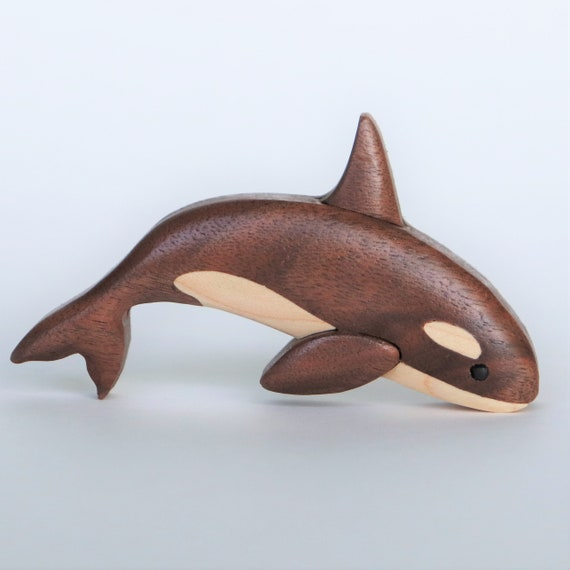 Orca Killer Whale Wooden Magnet Ornament Fish Intarsia Wood Etsy