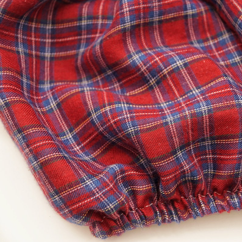 Red tartan baby bloomers Baby bloomers baby girl clothes cake smash outfit girl