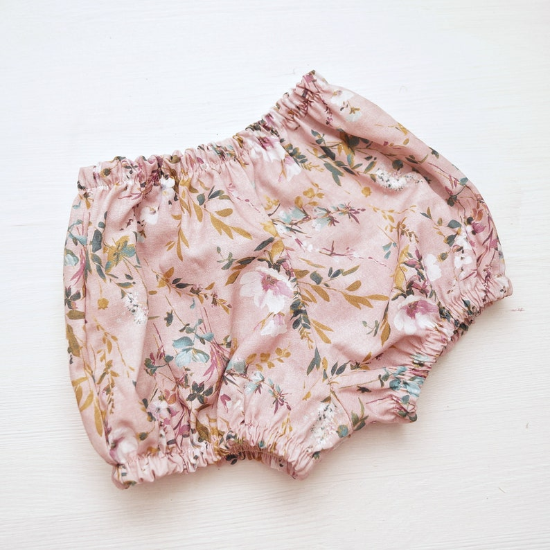 Baby girl bloomers baby bloomers floral bloomers floral cotton available in Pink and blue