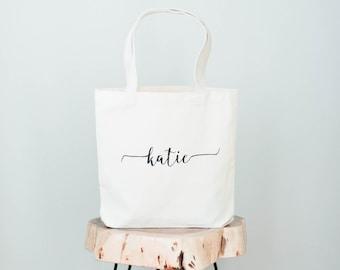 9bfe6a7f8 Bridesmaid Bag, Beach Bag, Monogram Bag, Canvas Tote Bag, Bridesmaid Gift  Bag, Wedding Bag, Personalized Bag, Medium Tote
