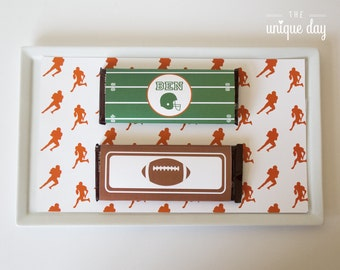 Printable Chocolate wrapper -Football Birthday Party - Personalized // FOO - 04