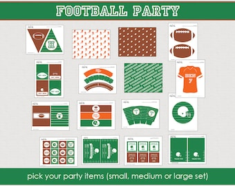Football Party Collection - Printable Party Collection -the unique day // FOO - 01