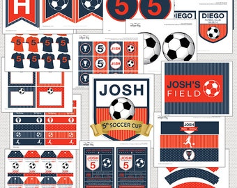 Soccer Birthday Party Package - Printable - Personalized // SOC-09