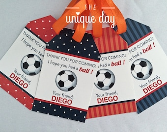 Soccer Party - Soccer Birthday - Thank you tags - Printable - DIY Party Favor// SOC- 03