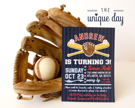 Baseball Birthday Party Invitation