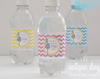 About to POP Baby Shower - Printable Water bottle labels - RTP  - Personalized - Can Be Made to Match any Theme in My Shop // RTP-06