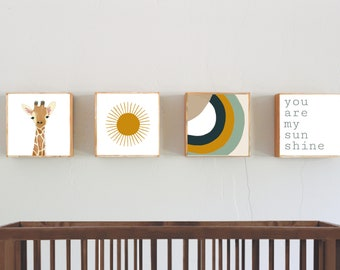 you are my sunshine nursery prints nursery decor - boho neutral art for nursery -neutral boho nursery art blocks, boho nursery