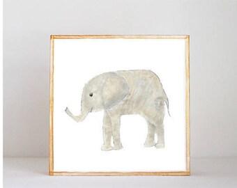 safari jungle nursery decor, elephant wall art- nursery decor- kid room decor- nursery art-moroccan nursery-redtilestudio, safari animal