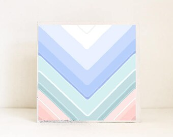 boho geometric wall art- ombre chevron- nursery decor- gray kids room art- redtilestudio, baby girl nursery, girls room art, geometric boho