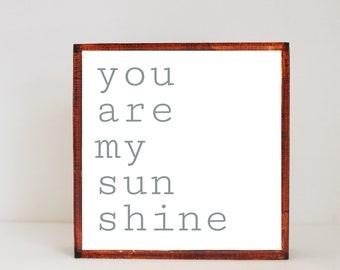 you are my sunshine boho nursery,  nursery art, baby girl nursery decor, gender neutral baby, baby room art, art block, redtilestudio